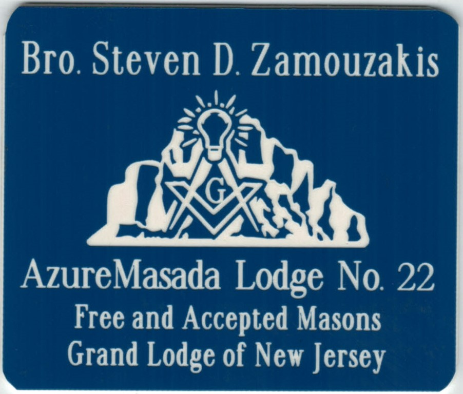Masonic Name Badges