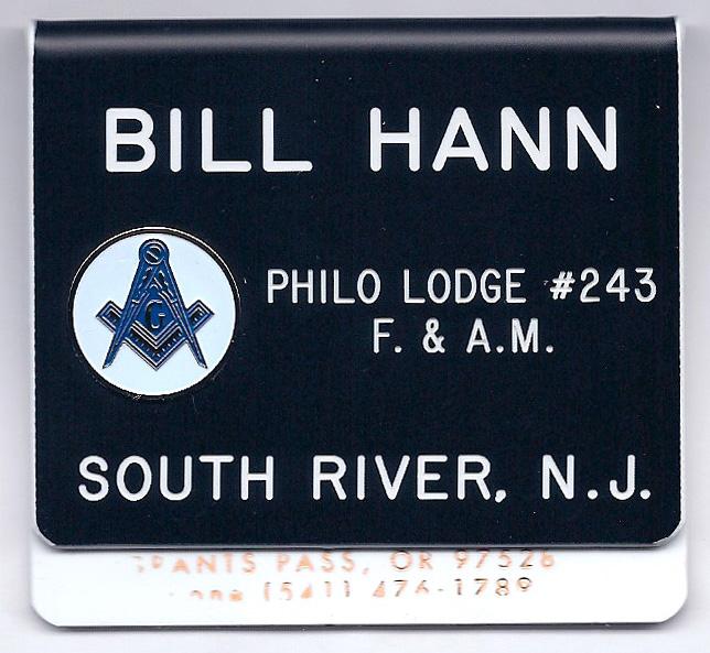 Mason's Lodge Badges - Plastic Engraved Name Badge - Order - For Sale